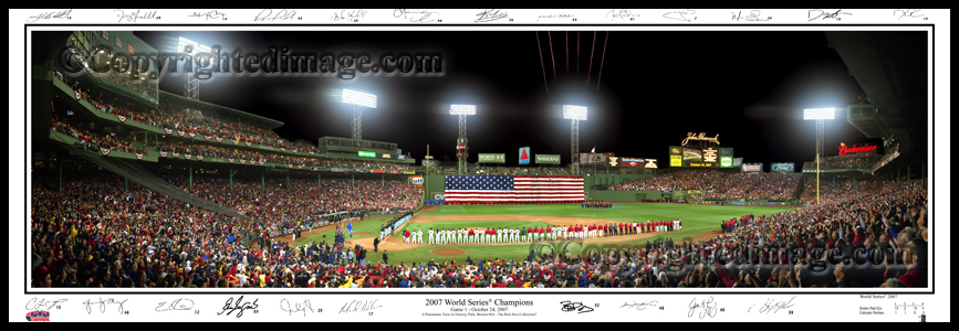 2007 World Series with signatures
